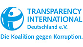 Logo Transparency International Deutschland e.V. Die Koalition gegen Korruption.